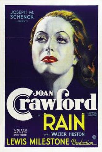 Rain (1932 film) - theatrical film poster