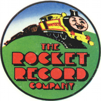 The Rocket Record Company - Original logo based on The Little Engine That Could