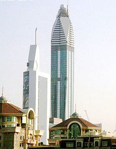 Rose Rotana Tower Under Construction on 12 May 2007 Pict 4en crop.jpg