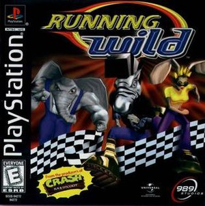 Running Wild (video game) - Image: Running Wild Play Station Cover