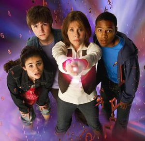The Sarah Jane Adventures - Main cast of series 1 (left to right) Maria Jackson, Luke Smith, Sarah Jane Smith and Clyde Langer
