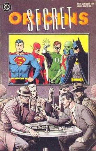 Secret Origins - Brian Bolland's cover to the 1989 Secret Origins collection.