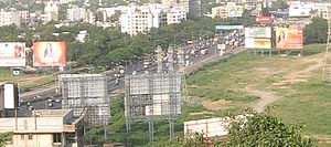 Sion Causeway - Picture of the causeway, now part of the Eastern Express Highway, in 2008.