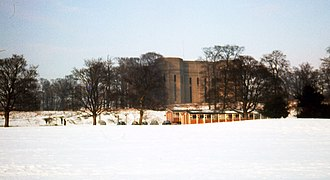 Siward's Howe - Siwards Howe from the campus, 1978