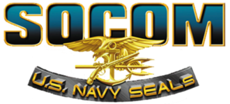 SOCOM U.S. Navy SEALs - The logo of SOCOM: U.S. Navy SEALs, the first game in the series. Subsequent titles use a similar logo.