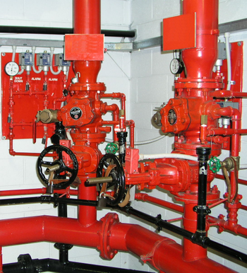 Fire sprinkler control valve assembly.