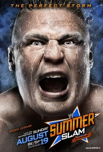 SummerSlam (2012) - Promotional poster featuring Brock Lesnar