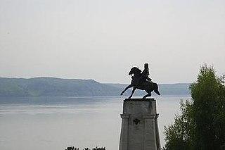 equestrian statue inTolyatti, Russia