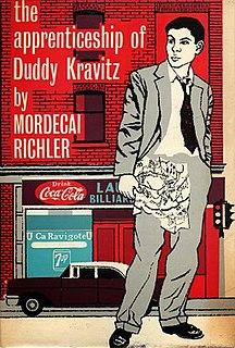 <i>The Apprenticeship of Duddy Kravitz</i> (novel) book by Mordecai Richler