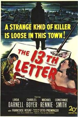 The 13th Letter - Theatrical release poster