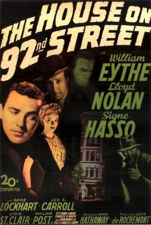 The House on 92nd Street - Theatrical release poster
