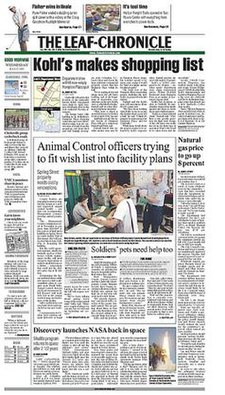 The Leaf Chronicle front page.jpg
