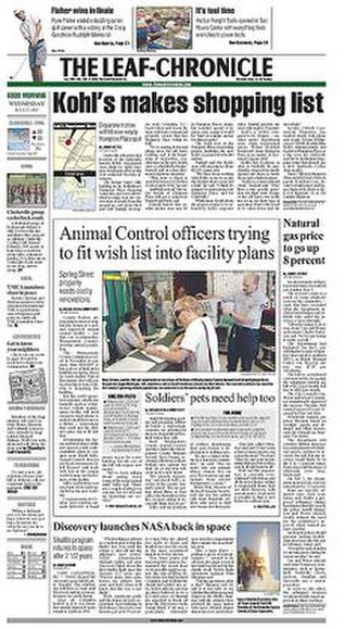 The Leaf-Chronicle - Image: The Leaf Chronicle front page