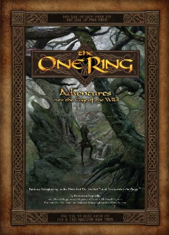 The One Ring Roleplaying Game - Image: The One Ring, Adventures over the Edge of the Wild (cover)