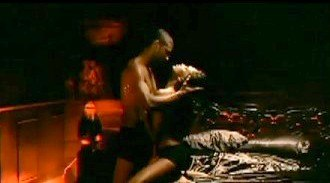 There Goes My Baby (Usher song) - Usher and his love interest depicted in a risque scene in the video