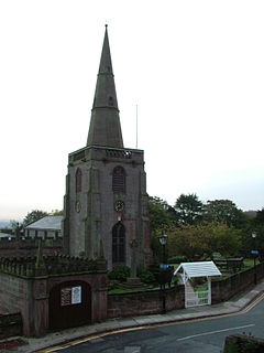 Tower and hearse house, All Saints' Church, Childwall.jpg