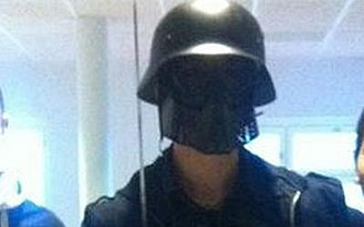 Trollhättan school attack - Anton Lundin Pettersson, photographed in the corridors of the school minutes before he began his attack