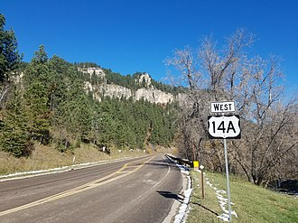 Spearfish Canyon - Spearfish Canyon Scenic Byway, along U.S. Route 14A