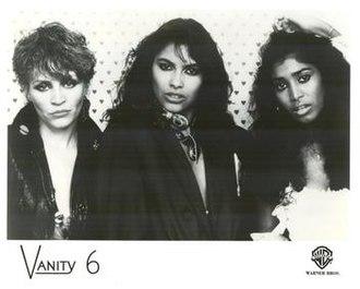 Vanity 6 - Left to right: Brenda Bennett, Vanity, and Susan Moonsie; 1983.