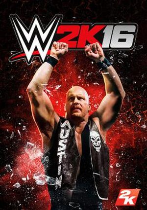 WWE 2K16 - Cover art featuring Stone Cold Steve Austin
