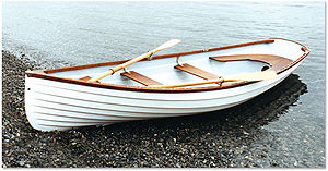 Whitehall rowboat - A Whitehall rowboat
