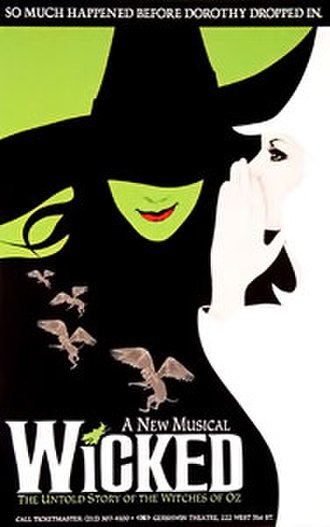 Wicked (musical) - Official poster of the original Broadway production