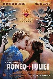<i>Romeo + Juliet</i> 1996 film directed by Baz Luhrmann