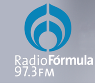 XHRAC-FM - Image: XHRAC radioformula 97.3 logo