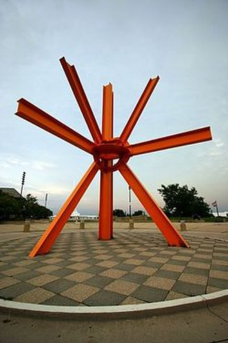 The Calling (di Suvero) - Image: 399px The calling mark di suvero milwaukee wisconsin sculpture