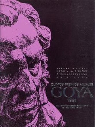 5th Goya Awards - Image: 5th Goya Awards logo