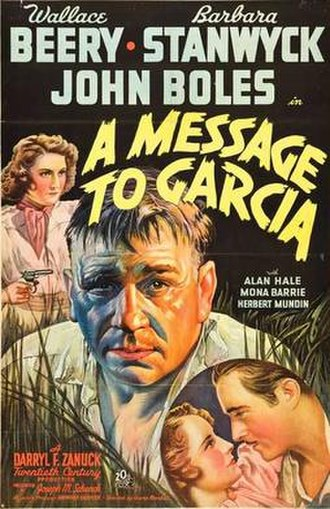 A Message to Garcia (1936 film) - Theatrical release poster