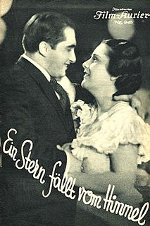 <i>A Star Fell from Heaven</i> (1934 film) 1934 Austrian musical film directed by Max Neufeld