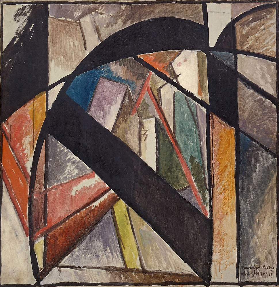 Albert Gleizes, 1915, Brooklyn Bridge, oil and gouache on canvas, 102 x 102 cm, Solomon R. Guggenheim Museum, New York