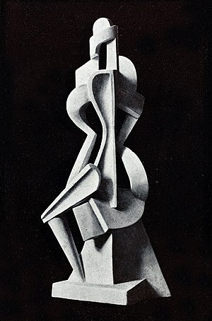 Alexander Archipenko - Untitled, 1912, published in Action, Cahiers individualistes de philosophie et d'art, October 1920