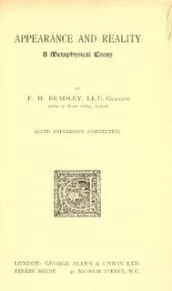 <i>Appearance and Reality</i> book by Francis Herbert Bradley