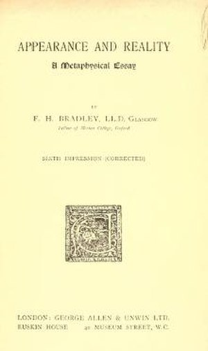 Appearance and Reality - Title page