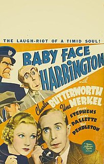 <i>Baby Face Harrington</i> 1935 film by Raoul Walsh