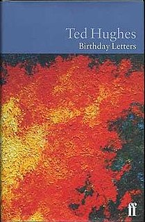 <i>Birthday Letters</i> book by Ted Hughes