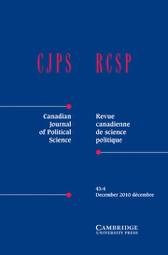 Canadian Journal of Political Science - Image: Canadian Journalof Political Science