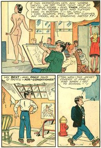 Al Capp - Al Capp drew his own autobiography, the 34-page Al Capp by Li'l Abner (1946), distributed to returning World War II amputee veterans.