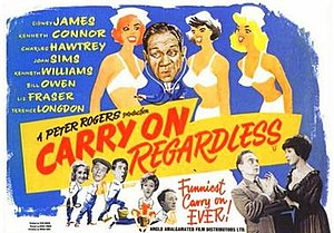 Carry On Regardless - Original UK quad poster
