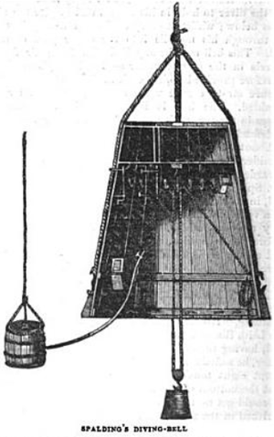 Charles Spalding - Spalding's Diving Bell, The Saturday Magazine, Vol. 14, 1839