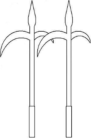"Chicken sickles - Drawing of ""Chicken-Claw Sickles"""