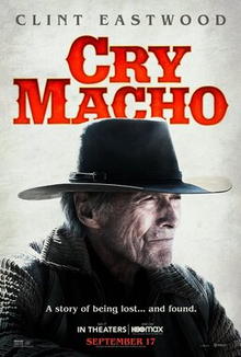 """The film's logo above Clint Eastwood in a cowboy hat and the tagline: """"A story about being lost... and found."""""""
