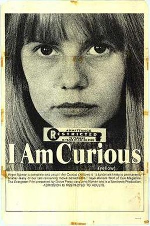 I Am Curious (Yellow) - North American release poster