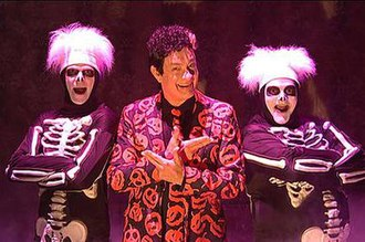 David S. Pumpkins - The character dancing with skeletons in the original sketch