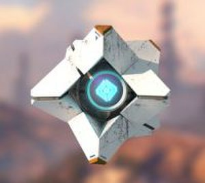 "Destiny (video game) - The AI Ghost with the default ""Generalist"" Ghost shell. In-game, Ghost is about the size of a softball."