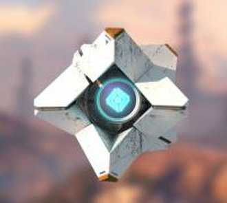 """Destiny (video game) - The AI Ghost with the default """"Generalist"""" Ghost shell. In-game, Ghost is about the size of a softball."""