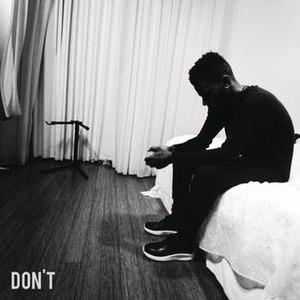 Don't (Bryson Tiller song) - Image: Don't Bryson Tiller