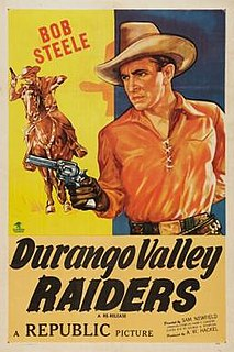 <i>Durango Valley Raiders</i> 1938 film by Sam Newfield